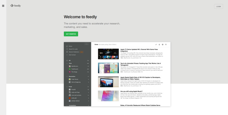 homepage feedly