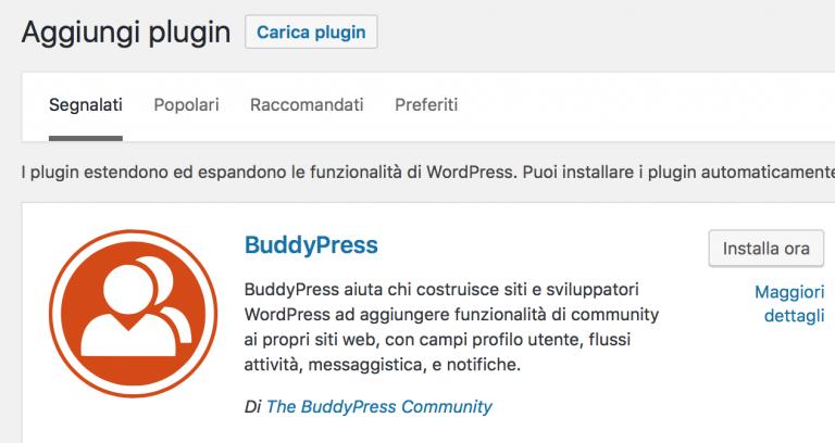 ricerca il plugin